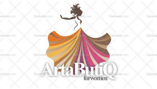 طرح کارت ویزیت لباس فروشی زنانه