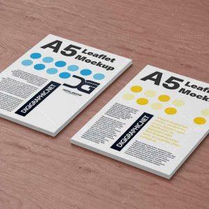 دانلود موکاپ کاغذ های A4