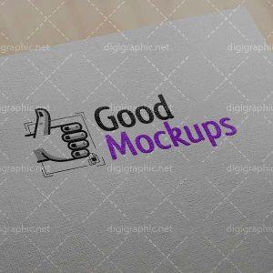 موکاپ لوگوی چاپ شده