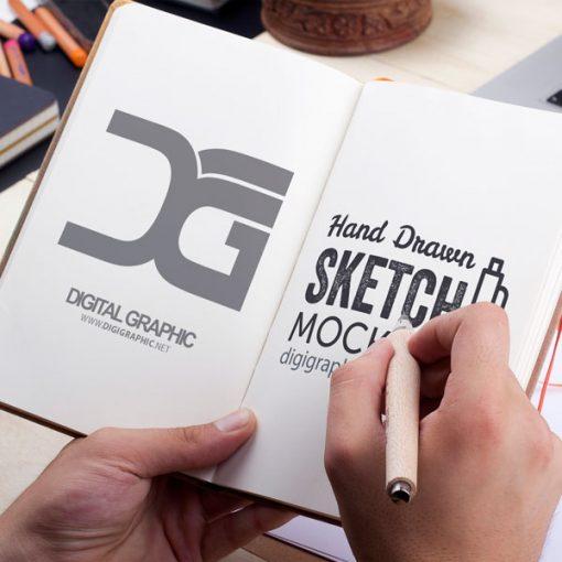 موکاپ دفترچه باز شده