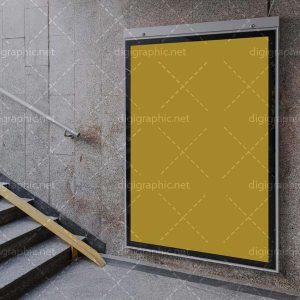 موکاپ تابلو تبلیغاتی ورودی مترو