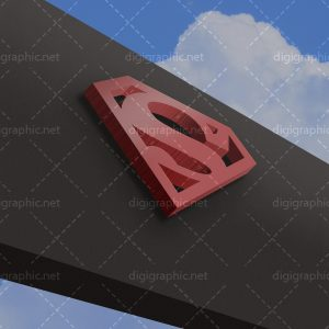 دانلود موکاپ لوگوی 3d روی تابلو