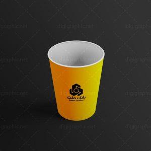 موکاپ لیوان کاغذی ساده