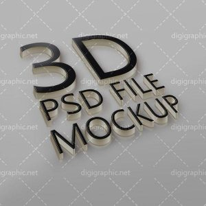 موکاپ لوگو 3D