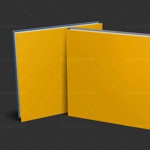 موکاپ پشت و روی کتاب افقی