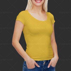 موکاپ تی شرت زنانه