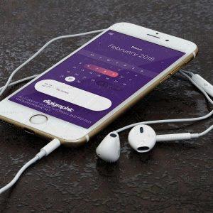 موکاپ موبایل سفید