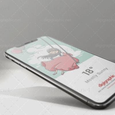 موکاپ سه بعدی گوشی AppleX