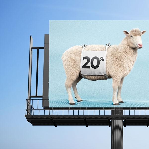 موکاپ بیلبورد تبلیغاتی بزرگراه