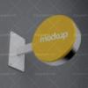 موکاپ بیلبورد گرد تبلیغاتی