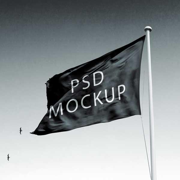 طرح موکاپ پرچم