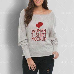 موکاپ تیشرت لایه باز زنانه
