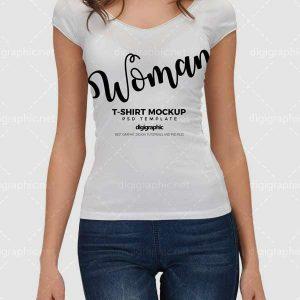 موکاپ تیشرت سفید زنانه