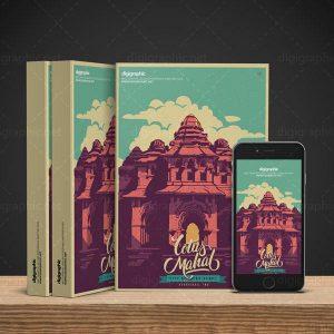 موکاپ کتاب 3 جلدی و موبایل