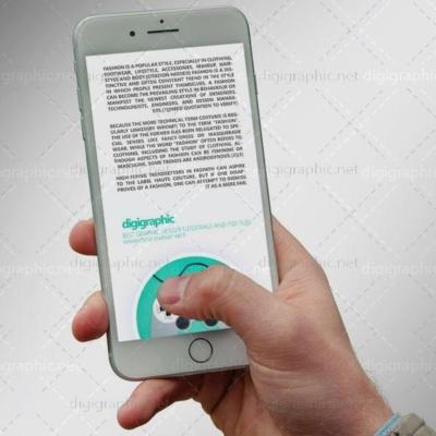 موکاپ زیبای گوشی Apple سفید