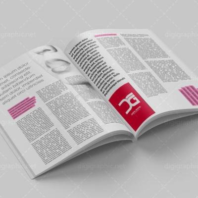 دانلود موکاپ صفحات مجله باز شده