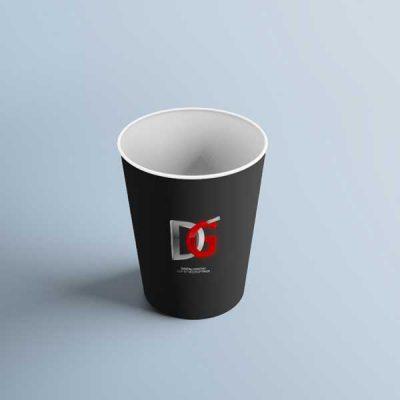 دانلود موکاپ لیوان کاغذی سیاه