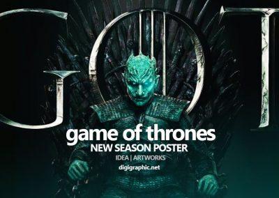 پوستر های فصل هشتم سریال بازی تاج و تخت